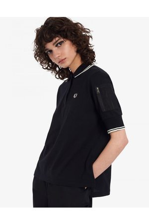 Fred Perry Donna Polo - T-shirt in piqué con tasca