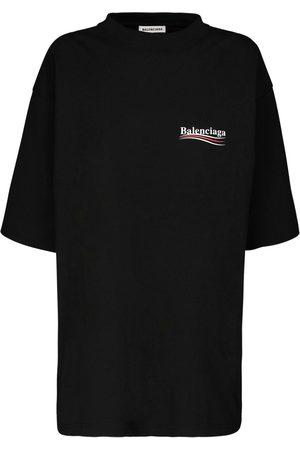 Balenciaga T-shirt Oversize In Jersey Di Cotone Con Logo