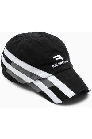 Balenciaga Cappello con visiera con ricamo logo /grigio/bianco