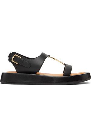 Burberry Donna Sandali - Leather Monogram Flat Sandals