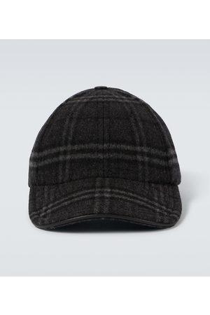 Burberry Cappello in lana e cashmere a quadri