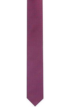 HUGO BOSS Uomo Papillon - Cravatta in pura seta con micro-motivo