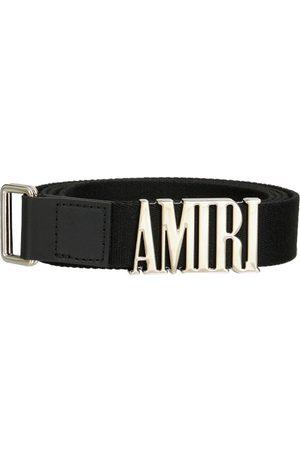 AMIRI Cintura Skater In Webbing Con Logo 3cm