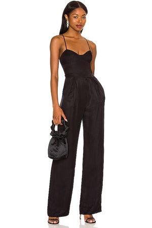 House of Harlow X REVOLVE Simona Jumpsuit in - Black. Size L (also in M, S, XL, XS, XXS).