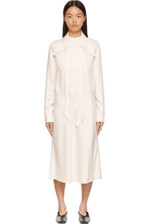Jil Sander Donna Vestiti - Cupro Scalloped Collar Dress
