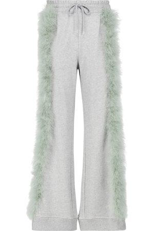 DRIES VAN NOTEN Pantaloni sportivi in cotone con piume