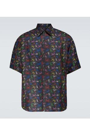 Fendi Uomo Camicie a maniche corte - Camicia in seta con stampa