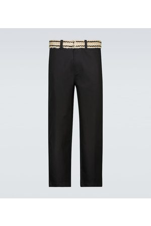 ADISH Uomo Cinture - Pantaloni in cotone con cintura