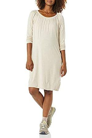 Amazon Abito Premaman con Scollatura Dresses, Avena Puntinato, S