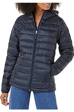 Amazon Donna Giacche estive - Lightweight Water-Resistant Packable Hooded Puffer Jacket Giacca, Navy/ Piccolo Ghepardo, L