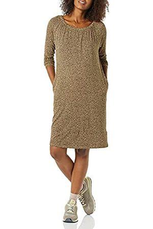 Amazon Essentials Abito Premaman con Scollatura Dresses, Cammello Micro Ghepardo, M