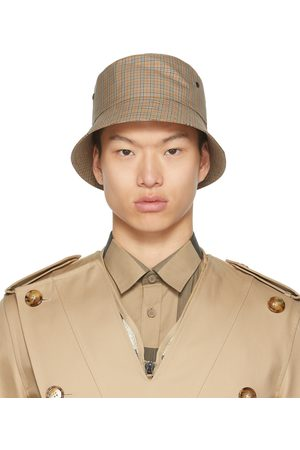 Burberry Brown Check Bucket Hat