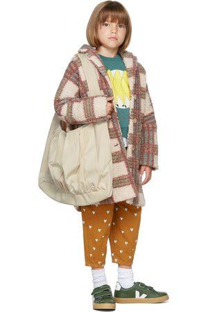 The Campamento Kids Beige Checks Teddy Coat