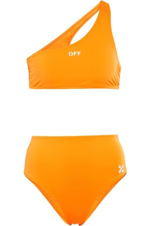 OFF-WHITE Bikini monospalla con logo