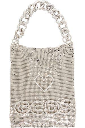 GCDS Silver Mesh Pocket Bag