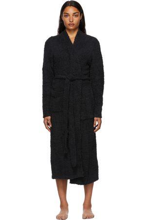 SKIMS Black Cozy Knit Robe