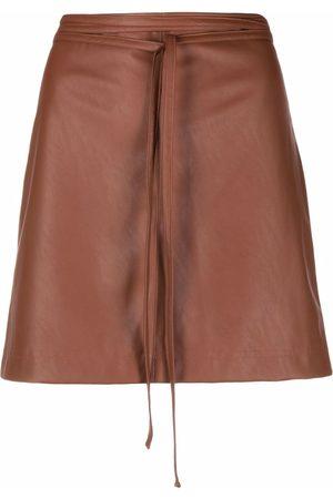 Pinko Donna Minigonne - Faux-leather fitted miniskirt