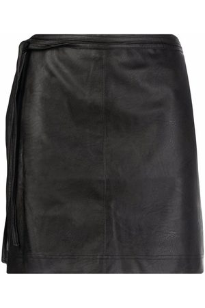 Pinko Faux-leather fitted miniskirt