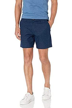 Goodthreads 7 inch Inseam Linen Cotton Short Pantaloncini Casual, Navy X, 32