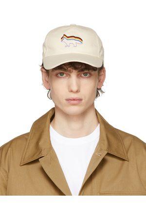 Maison Kitsuné Uomo Cappelli con visiera - Beige Rainbow Fox Pride Cap