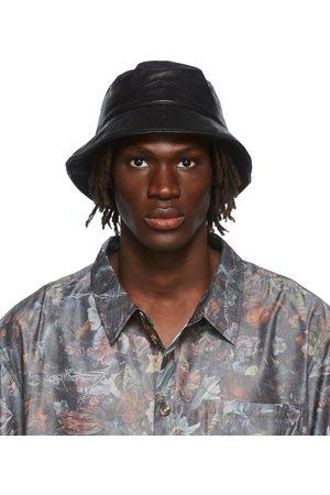 HAN Kjøbenhavn Black Faux-Leather Bucket Hat