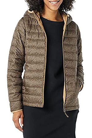 Amazon Donna Giacche estive - Lightweight Water-Resistant Packable Hooded Puffer Jacket Outerwear-Jackets, Classic Piccolo Ghepardo, M
