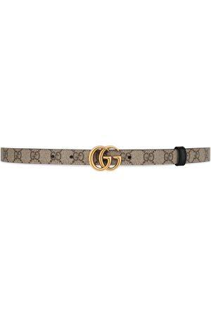 Gucci Donna Cinture - Cintura sottile reversibile GG Marmont