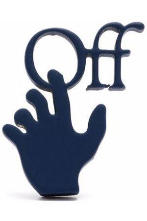 OFF-WHITE Orecchino Hands Off con logo