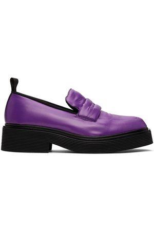Marni Purple Padded Nylon Loafers