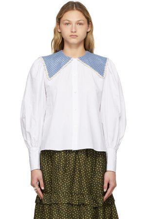 Shrimps Donna Bluse - White Crochet Collar Harvey Blouse
