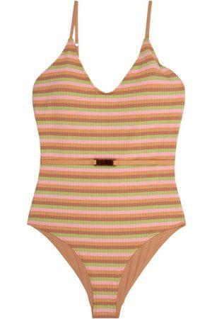 LOVE Stories Madison Striped Swimsuit , Donna, Taglia: M