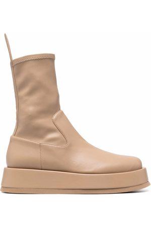 Gia Borghini Donna Stivali con plateau - Platform sock boots - Toni neutri