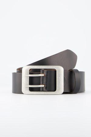 JP 1880 Cintura di vera pelle con doppia chiusura e accorciabile autonomamente
