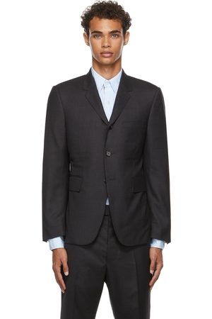 Thom Browne Uomo Cravatte e accessori - Grey Super 120s Twill Classic Suit & Tie