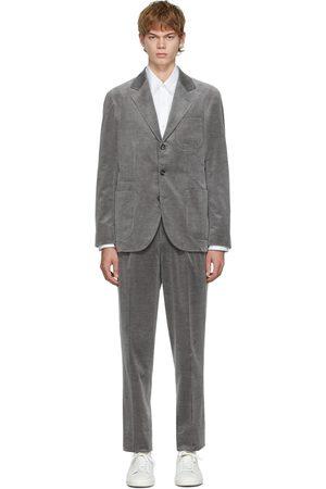 Brunello Cucinelli Grey Corduroy Cashmere Suit