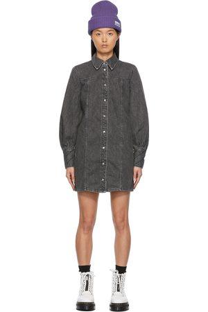 Ganni Grey Organic Cotton Mini Dress