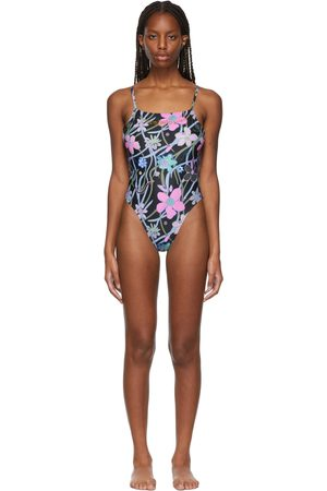 Collina Strada SSENSE Exclusive Black Butterfly G-String One-Piece Swimsuit