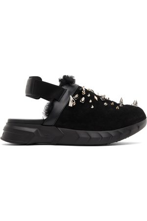 Givenchy Suede & Shearling Marshmallow Clog Loafers
