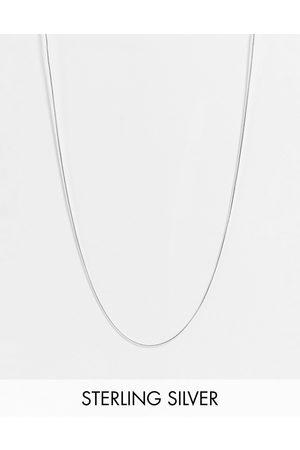 ASOS Catenina skinny a maglie piatte in sterling color