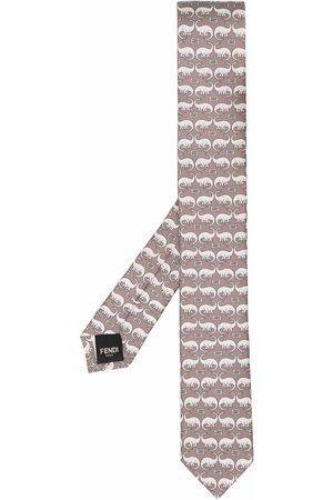 Fendi Cravatta con stampa - Toni neutri