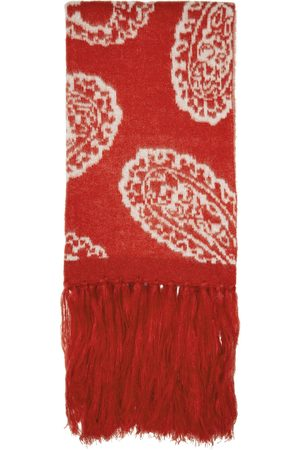 424 Red Paisley Scarf