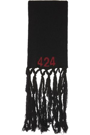 424 FAIRFAX Black Alias Boiled Wool Scarf