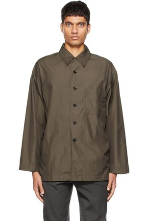 Lemaire Brown Brushed Cotton Pyjama Shirt