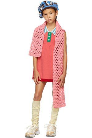 Ligne Noire Kids Pink Virgin Wool Sleeveless Little Dress