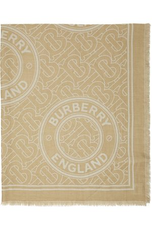 Burberry Beige Cashmere Roundel Scarf