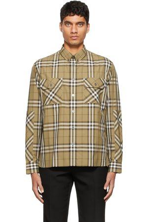 Burberry Khaki Casual Check Shirt
