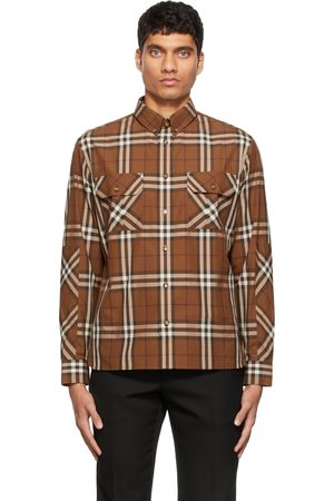 Burberry Brown Casual Check Shirt