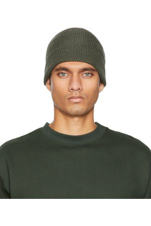 LEMAIRE Green Knitted Hat Beanie