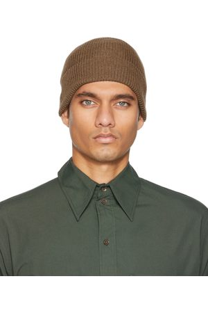 LEMAIRE Brown Knitted Hat Beanie
