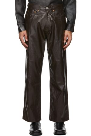 OUR LEGACY Brown Extended Third Cut Faux-Leather Pants